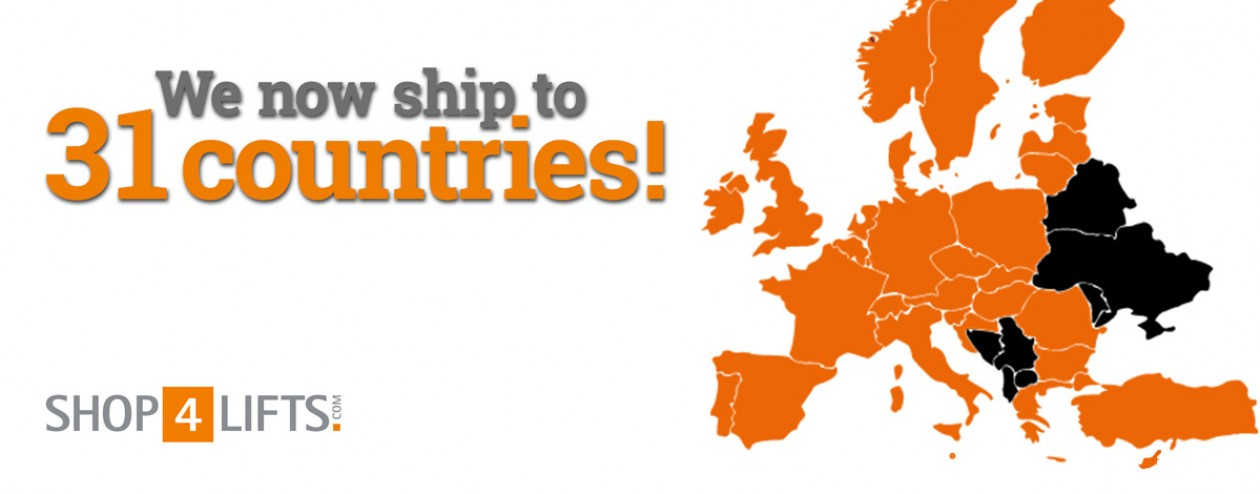 Shop4Lifts.com - We now ship to 31 countries!