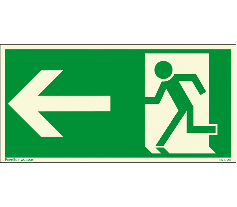 Fluchtweg, links