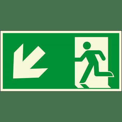 Fluchtweg, links-unten