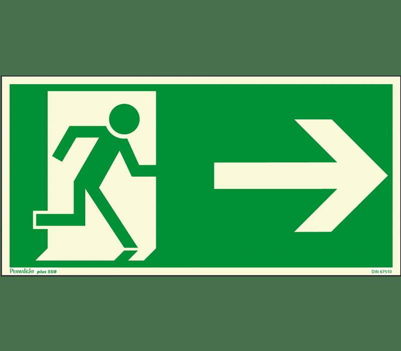 Fluchtweg, rechts
