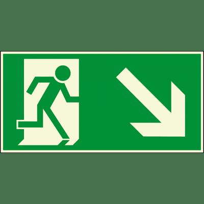 Fluchtweg, rechts-unten