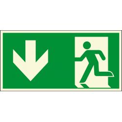 Fluchtweg, unten (Notausgang)