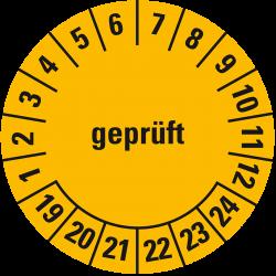 Prüfplakette,gelb (19-24)