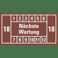Nächste Wartung (braun, 18); 12er Bogen