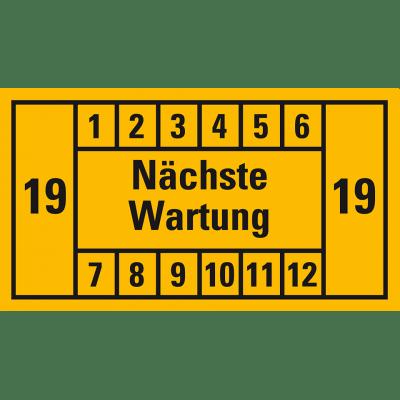 Nächste Wartung (gelb, 19); 12er Bogen