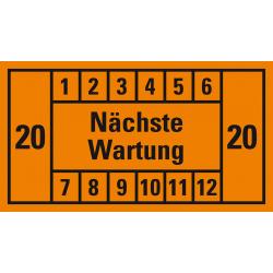 Nächste Wartung (orange, 20); 12er Bogen