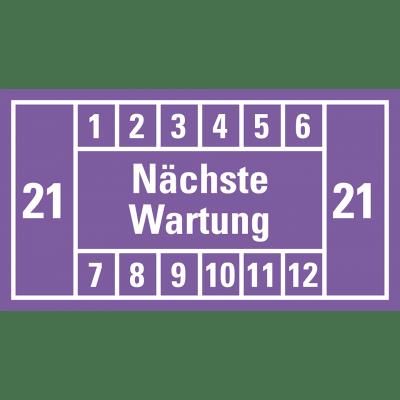 Nächste Wartung (violett, 21); 12er Bogen