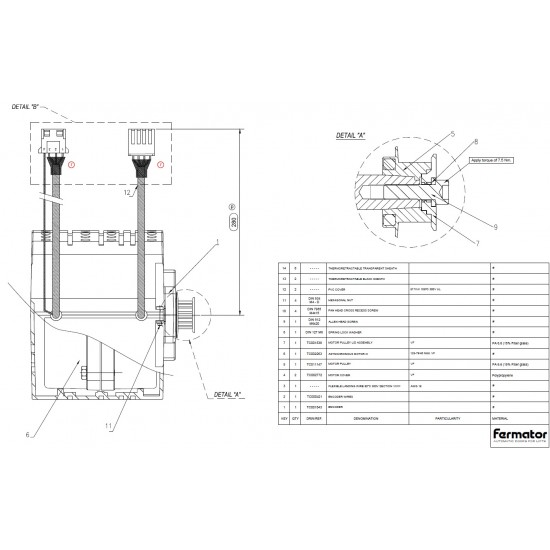 Fermator VF door motor with HTD/linear pinion