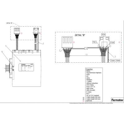 Fermator VF Türmotor mit HTD/linearem Ritzel