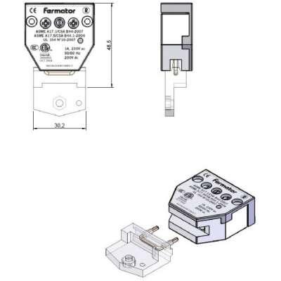 Fermator Türkontakt 40 mm für diverse Modelle