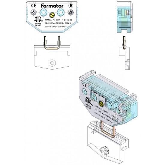 Fermator door contact 60 mm for various models