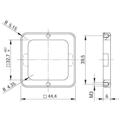Unterlage Style 42 square (Metall)