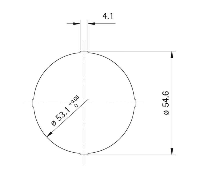 Rosette Style 50 rund (Kunststoff)