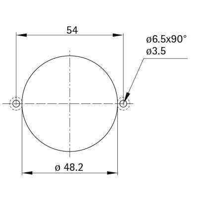 Rosette Style 56 round (Metall)
