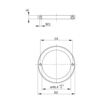 Unterlage Style 56 round (Metall)