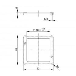 Marking ring Style 56 square (metal)