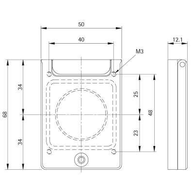 Rosette CES Zylinder V2A Set