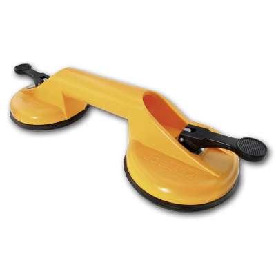 Saugheber Kunststoff gelb 2-fach