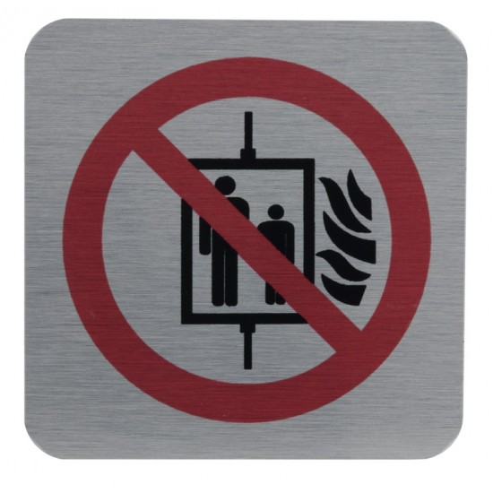 "Pictogram: ""Do not use the elevator in case of fire!"""