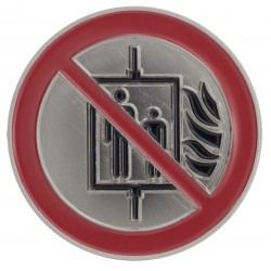 """Pictogram: """"Do not use the elevator in case of fire!"""""""